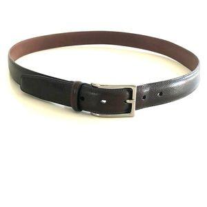 Cole Haan Brown Men's Leather Belt Size: 38